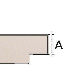 dettaglio Doska so zapustenou úchytkou (mm)