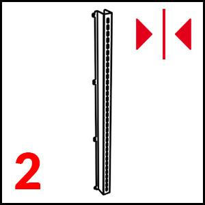dettaglio Stainless steel (L+R) mm