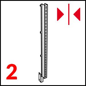 dettaglio Stainless steel (L+ R) mm