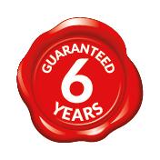 certificazione 6 Years Warranty