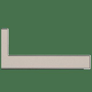 dettaglio Straight edge with riser