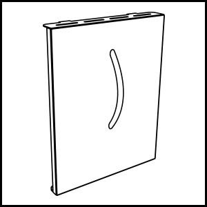 dettaglio Bouclier de protection portes foyère