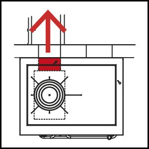 dettaglio Flue outlet for heat accumulation stove